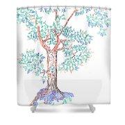Tesselated Tree Shower Curtain