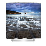 Tessellated Flow Shower Curtain