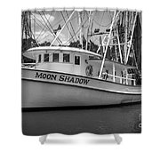 Moon Shadow Working Boat Shower Curtain