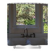 Window Over The Sink Shower Curtain
