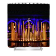 Fountain At Union Station Shower Curtain