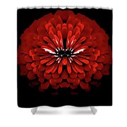 Test Red Abstract Flower 3 Shower Curtain