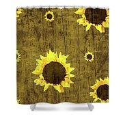 Test Rustic Sunflower Custom Shower Curtain