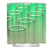 Test Tubes In Science Lab Shower Curtain