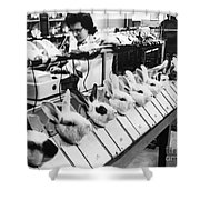 Tests On Animals, 1957 Shower Curtain