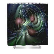 Tethered Sentiments Shower Curtain