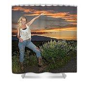 Tetom Sunset 1 Shower Curtain
