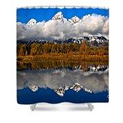 Teton Cloud Swarm Shower Curtain