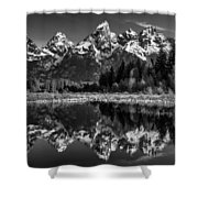 Teton Mono Shower Curtain