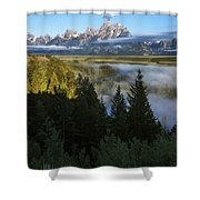 Teton Morning Snake River Overlook Shower Curtain