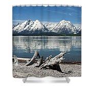 Teton Range Reflections Shower Curtain