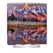 Teton Sunrise Spectacular Shower Curtain