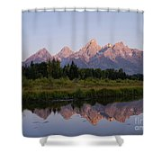 Teton Sunrise Shower Curtain