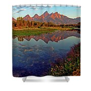 Teton Wildflowers Shower Curtain