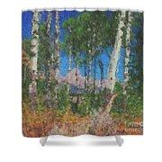 Tetons And Aspens Shower Curtain
