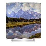 Tetons At The Landing 1 Shower Curtain