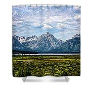 Tetons - Panorama Shower Curtain