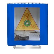 Tetrahedron From Wheat-shire Shower Curtain