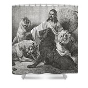 Tewodros Holding Audience, Surrounded Shower Curtain