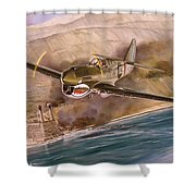 Tex Hill Over The Salween Gorge Shower Curtain