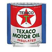 Texaco Can Shower Curtain