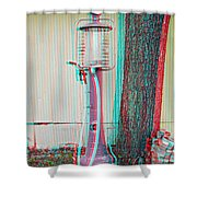 Texaco Gas Pump - Use Red-cyan 3d Glasses Shower Curtain