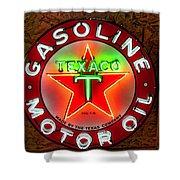 Texaco Gasoline Shower Curtain