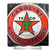 Texaco Sign Shower Curtain