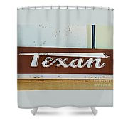 Texan Movie Theater Sign Shower Curtain
