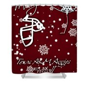 Texas Am Aggies Christmas Card Shower Curtain