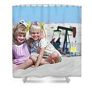 Texas Best Friends Shower Curtain