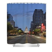 Texas Capitol And The Paramount From Congress Shower Curtain
