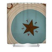 Texas Capitol Dome Lone Star In Austin, Texas, Usa Shower Curtain
