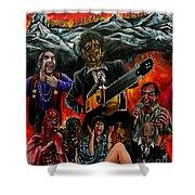 Texas Chainsaw Massacre 2 Shower Curtain