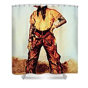 Texas Cowboy Shower Curtain by Frederic Remington