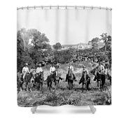 Texas: Cowboys, C1901 Shower Curtain