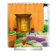 Texas Fiesta-style Shower Curtain