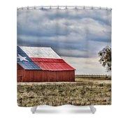 Texas Flag Barn #2 Shower Curtain