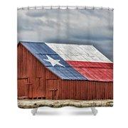 Texas Flag Barn #3 Shower Curtain