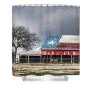 Texas Flag Barn #4 Shower Curtain