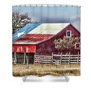 Texas Flag Barn #6 Shower Curtain
