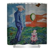 Texas Grandpa Shower Curtain