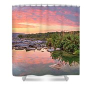 Texas Hill Country Morning Along The Pedernales 2 Shower Curtain