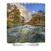 Texas Hill Country Pedernales Sunrise 1014-3 Shower Curtain