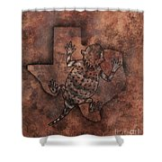 Texas Horned Toad Shower Curtain