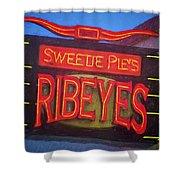Texas Impressions Sweetie Pie's Ribeyes Shower Curtain