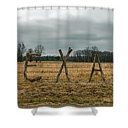 Texas In Tree Branches Shower Curtain