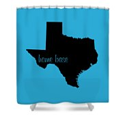 Texas Is Home Base Black Shower Curtain