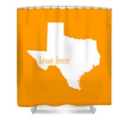 Texas Is Home Base White Shower Curtain