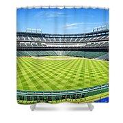 Texas Rangers Ballpark Waiting For Action Shower Curtain